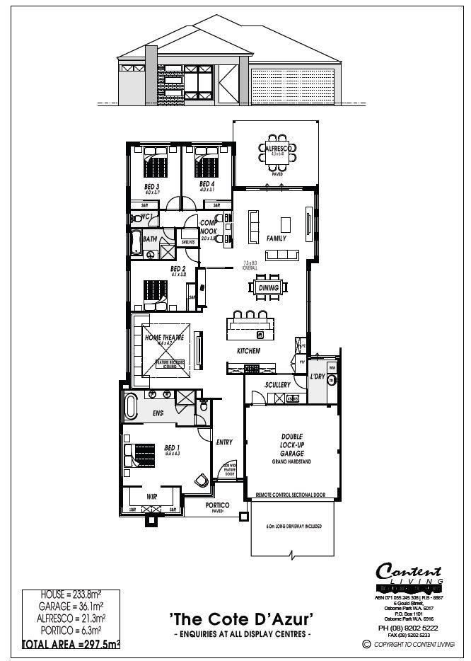 Cote D'Azur Floor Plan
