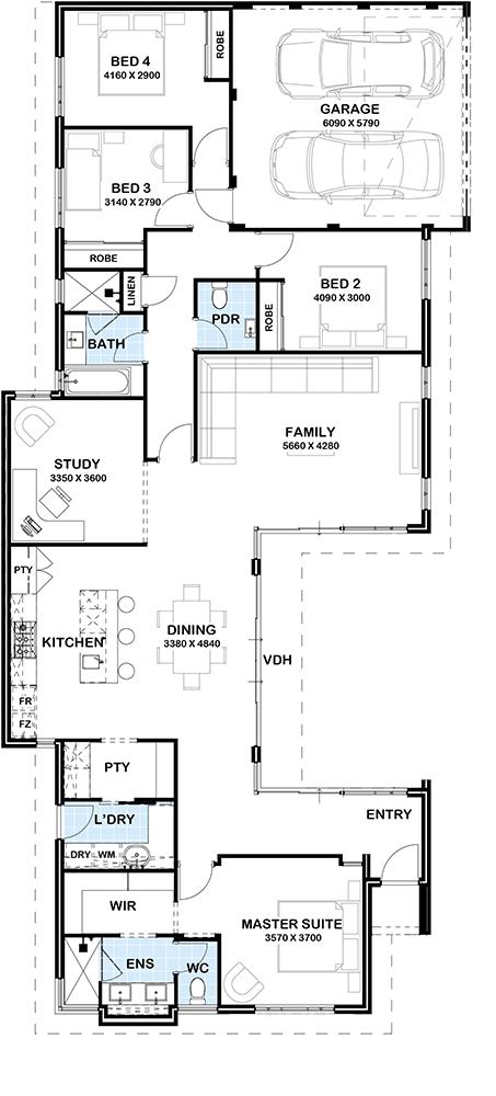 The California Floor Plan