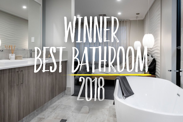 smart homes display home the haven, winner best bathroom 2018